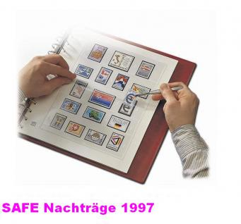 SAFE 1997 dual Nachträge - Nachtrag / Vordrucke Frankreich - France Jahresschmuckblätter - 1997