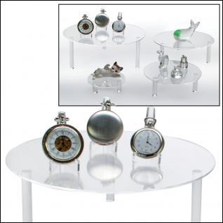 SAFE 55283 Runde ACRYL Präsentationsteller Deko Aufsteller 240 mm für Taschenuhren Uhren Armbanduhren