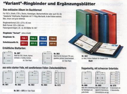10 x SAFE 867 Ergänzungsblätter Variant + schwarzen ZWL mit 2 Taschen 185 x 120 mm - Vorschau 2