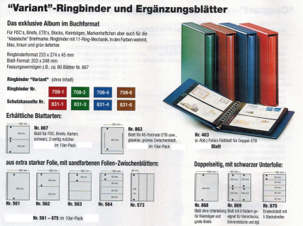 SAFE 708-6 Ringbinder Album Variant Braun 233 x 274 x 45 mm (leer) zum selbstbefüllen Für Banknoten Blocks Briefmarken Briefe ETB FDC Postkarten - Vorschau 2