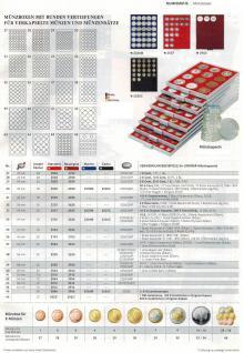 LINDNER 2745 MÜNZBOXEN Münzbox Rauchglas 45 quadratische Vertiefungen von 24 - 28 - 39 - 44 mm Münzen - Vorschau 3