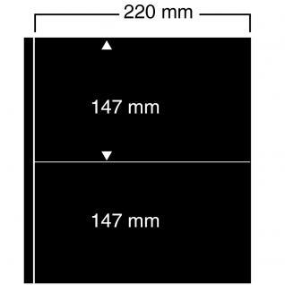 10 SAFE 452 Einsteckblätter Compact A4 - 4 schwarze Taschen 220 x 147 mm Für Banknoten Briefmarken