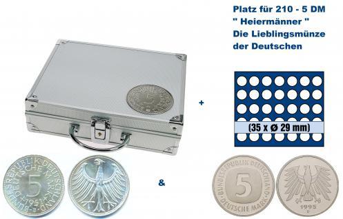SAFE 235 - 6329 ALU Länder Münzkoffer SMART BR. Deutschland Kursmünzen 5 DM mit 6 Tableaus 6329 Für 210 - 5 Deutsche Mark Kursmünzen von 1950 - 2001