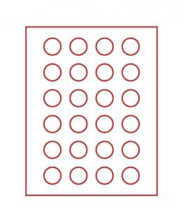 LINDNER 2710 Münzbox Münzboxen Rauchglas für 24 Münzen 32, 5 mm Ø 10 DM - 10 - 20 Euromünzen - Vorschau 1