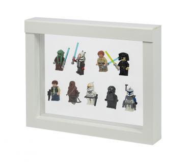 LINDNER 4851 NIMBUS 230 Weiss Sammelrahmen Schweberahmen 3D Für Lego Mni Figuren Star Wars usw.