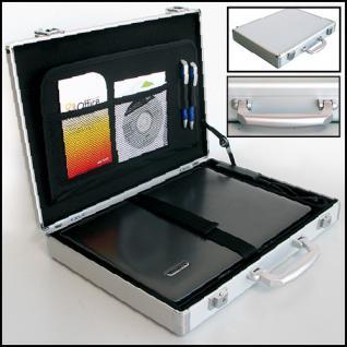 "SAFE 274 ALU Notebook - Netbook - Laptop Office Koffer "" Silver Star "" 15"""