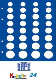 1 x SAFE 7829 TOPset Münzblätter Ergänzungsblätter Münzhüllen für 4x Euromünzen KMS Kursmünzensätze in Münzkapseln
