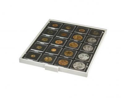 LINDNER 2122C Münzboxen Münzbox Carbo Schwarz 20 x 50 mm Ideal für Münzrähmchen - Carree - Octo - Quadrum - Münzkapseln
