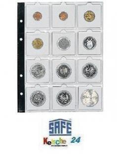 5 x SAFE 7855 Coin Compact Münzhüllen Hüllen Ergänzungshüllen Für 12 Münzrähmchen