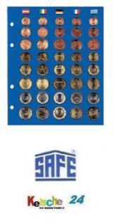 5 x SAFE 7858 TOPset Münzblätter Ergänzungsblätter Münzhüllen für 5 x Euromünzen KMS Kursmünzensätze 1 Cent bis 2 Euromünzen