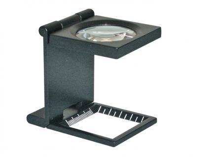 LINDNER S32 Metall LUPE Standlupe Fadenzähler 6 FACHE Vergrößerung Linse 30 mm + Scala