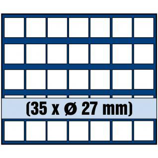 1 x SAFE 6327 SP Tableaus / Einsätze SMART mit 35 eckigen Fächern 27 mm 2 Euro DM 1 US Smal Dollar