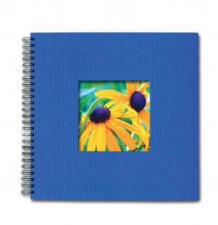 SAFE 5803-4 Design Fotoalbum Classic Azur Blau 33 x 33 cm - 40 Seiten + Austauschbares Coverbild