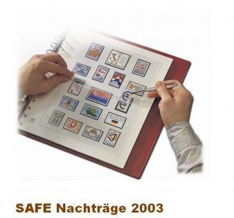 SAFE 1603 dual Nachträge - Nachtrag / Vordrucke Frankreich - France Jahresschmuckblätter - 2003