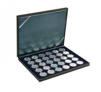 LINDNER 2364-2537ME Nera M Münzkassetten Einlage Marine Blau für 30 x Münzen bis 37 mm & 10 Euro DM in orig Münzkapseln 32, 5 PP
