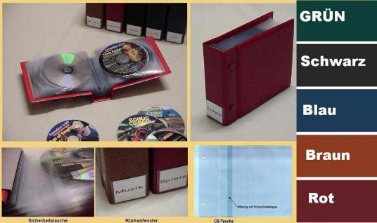 KOBRA CD3 Hellbraun - Braun CD Sammelalbum Ringbinder Album + 25 Hüllen + Verzeichnis für 25 CD's DVD Blue Ray