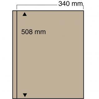 5 x SAFE 6053 Ergänzungsblätter mit 1 Tasche 340x508 mm mit sandfarbenen ZWL Für das ALbum 6055