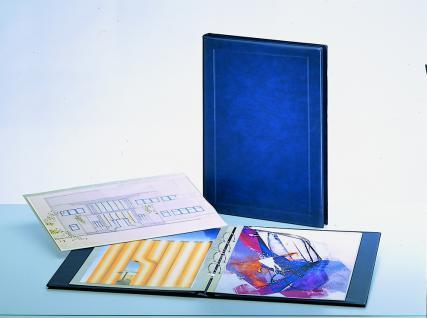 SAFE 6055 Jumbo Album Blau Blattformat 360x510 mm Für Aktien Wertpaiere Urkunden Dokumente Grafiken