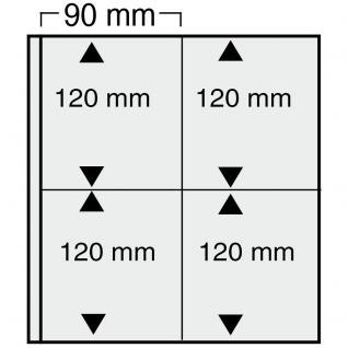 10 x SAFE 869 Ergänzungsblätter Variant + schwarzen ZWL mit 8 Taschen 90 x 120 mm Für Viererblocks & Eckrandstücke - Vorschau 1