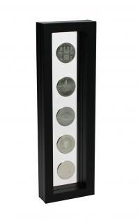 SAFE 4508 SCHWEBE RAHMEN FOTORAHMEN BILDERRAHMEN 3D Schwarz Außen 295 x 95 mm / Innen 265 x 60 mm Für Münzen & Medaillen