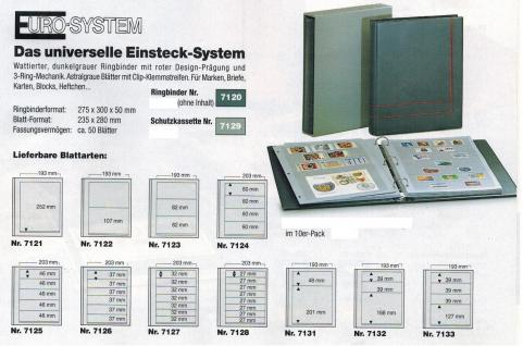 10 x SAFE 7121 EURO-SYSTEM Graue Einsteckblätter Ergänzungsblätter 1 Klemmstreifen 193 x 252 mm - Vorschau 2