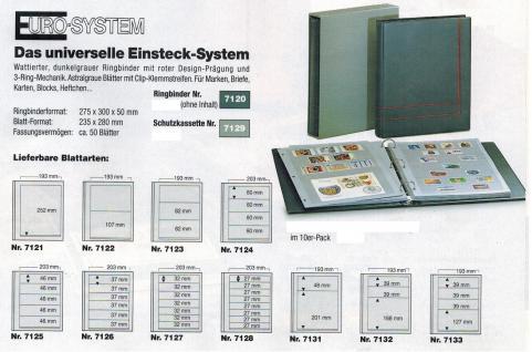 10 x SAFE 7126 EURO-SYSTEM Graue Einsteckblätter Ergänzungsblätter 6 Klemmstreifen 193 x 37 mm - Vorschau 2