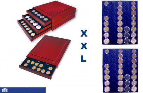 SAFE 6839 XXL Nova Exquisite Holz Münzboxen Schubladenelement mit 2 Tableaus Für 10 x EURO Kursmünzensätze KMS 1 2 5 10 20 50 Cent - 1 2 € in Münzkapseln