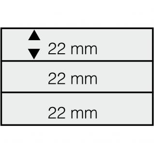 50 SAFE 7003 DIN A6 Einsteckkarten Steckkarten Klemmkarten weisser Folie + 3 Streifen klar 148x22 mm