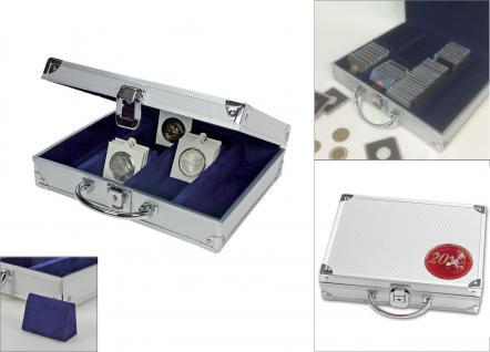 SAFE 548 - 243-245 ALU Münzkoffer Premium 20 Euro Münzen Gedenkmünzen für bis zu 220 Münzrähmchen Octo Quadrum Carree Münzkapseln