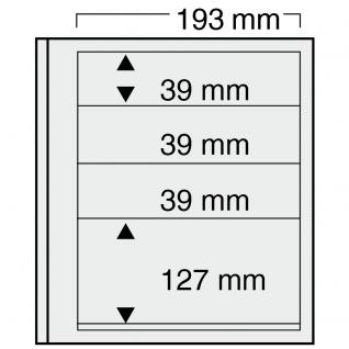 10 x SAFE 7133 EURO-SYSTEM Graue Einsteckblätter Ergänzungsblätter 3 Klemstreifen Mixed 3x - 193 x 39 & 1x - 193 x 127 mm