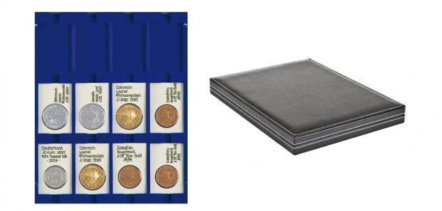 LINDNER 2364-2170ME Nera M Münzkassetten Marine Blau 12 Fächer 50x75 mm REBECK COIN L Münzrähmchen