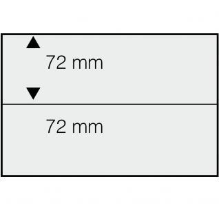 10 SAFE 742 DIN A5 Einsteckkarten Steckkarten Klemmkarten schwarze Folie + 2 Streifen glasklar 72x210 mm