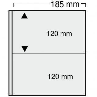 10 x SAFE 867 Ergänzungsblätter Variant + schwarzen ZWL mit 2 Taschen 185 x 120 mm