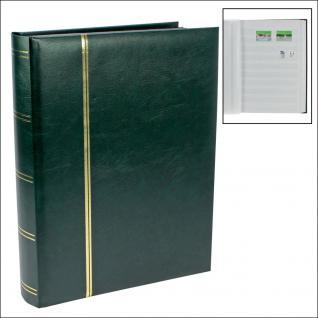SAFE 150-3 Briefmarken Einsteckbücher Einsteckbuch Einsteckalbum Einsteckalben Album Grün wattiert 64 weissen Seiten