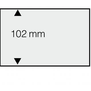 50 SAFE 7000 DIN A6 Einsteckkarten Steckkarten Klemmkarten weisser Folie + 1 Streifen klar 148x102 mm