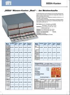 SAFE 6612-4 BEBA MÜNZBOXEN 144 quadratische Fächer 22, 5 mm + blaue Filzeinlagen Ideal für 1, 2, 5, 10, 20 Euro Cent & bis Münzkapseln 16, 5 mm - Vorschau 4