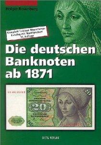 Gietl Die deutschen Banknoten ab 1871 Papiergeldkatalog Rosenberg / Grabowski 18. Auflage Hans-Ludwig Grabowski - Holger Rosenberg - 2011 - PORTOFREI in Deutschland - Vorschau 1