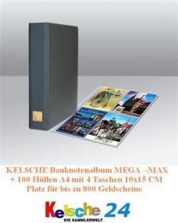 Kelsche 4880 Banknotenalbum MEGA +100 Hüllen 5471 bis 800 Banknoten