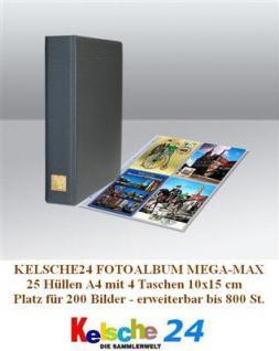 Kelsche Fotoalbum A4 MEGA-MAX + 25 Hüllen b 200 Bil - Vorschau