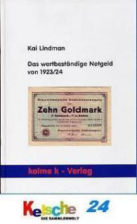 Kolme Kai Lindman Das wertbeständige Notgeld 1923/2