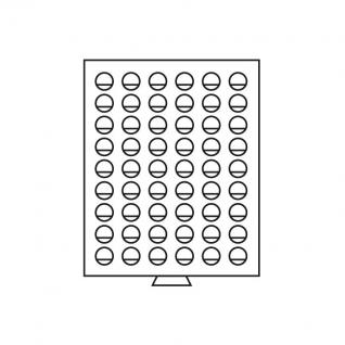 Leuchtturm 305786 Münzboxen Münzbox 54 runde Fächer 26,75 mm 2 Euro 2 DM MBG54R/26 Rauchfarbend - Vorschau