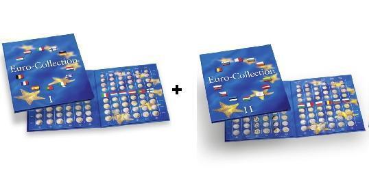 LEUCHTTURM Münzalbum Presso EURO Collection Band 1 + 2 Euromünzen Kursmünzensätze 324353 - 337527