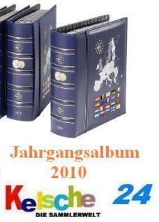 LEUCHTTURM VISTA EUROMÜNZEN Jahrgangsalbum 2010 NEU