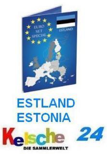 2x LEUCHTTURM Sammelkarten EUROMÜNZEN ESTLAND NEU - Vorschau