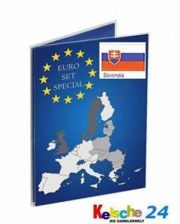 100 x LEUCHTTURM EURO Folder SLOWAKEI Klappkarten