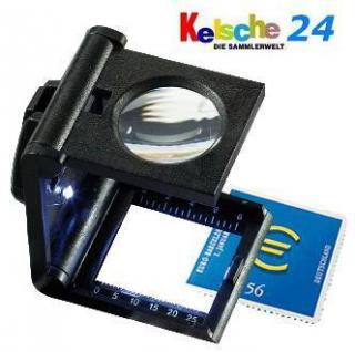 LEUCHTTURM 308008 - FZ5LED Fadenzähler FZ5LED + LED Lampe 5x fache Vergrößerung - Vorschau