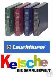 LEUCHTTURM Grande Ringbinder + Kassette in BLAU / KÖNIGSBLAU - Für Briefmarken - Ansichtskarten - Münzen - Banknoten - 301687 - CLGRANDEBL - Vorschau