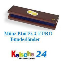 LEUCHTTURM Münzetui 5x 2 EURO Bundesländer Schwerin
