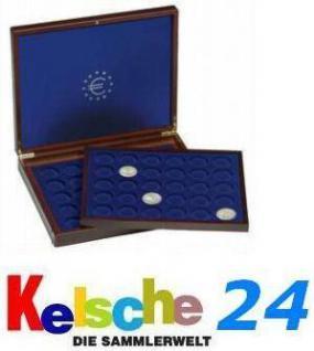 LEUCHTTURM Holz Münzkassetten HMK 70x2 EURO 2 Tableaus Nr. 309955 HMK2TC2EUBL