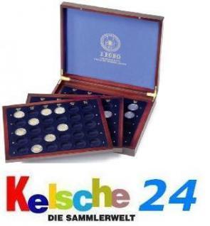 LEUCHTTURM Holz Münzkassette 80x 2 EURO 16 Bundesländer HMK3TC2EU16LD 313626